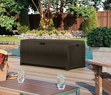 Pool Deck Box Outdoor Storage Chest Cabinet Trunk Chemicals Cushions Toys NEW