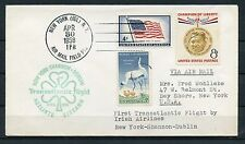 US APR 30, 1958 1st IRISH AIRLINES TRANSAT  FLIGHT NY TO SHANNON DUBLIN COVER