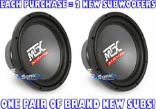 "2) MTX Audio RTS10-44 250W RMS 10"" Dual 4 ohm Road Thunder RTS Car Subwoofers"