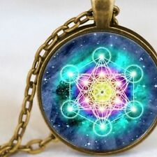 Metatrons Cube, Sacred Geometry Vibration, Bronze Necklace Ladies or Men's Gift