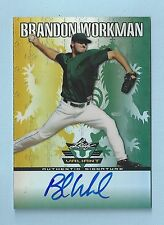 BRANDON WORKMAN 2011 LEAF VALIANT RC SIGNATURE AUTOGRAPH AUTO