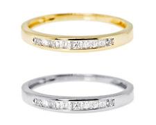 Ladies 10k White/Yellow Gold Princess Diamond Wedding Band Ring 1/5ct