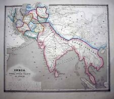 """1853 Reichard-Forbiger ALEXANDER THE GREAT'S EMPIRE """"Between the Tigris & Indus"""""""