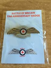 RAF/BATTLE of BRITAIN-75th Anniversary Badge/Pin-Brand New-*Proceeds to Charity*
