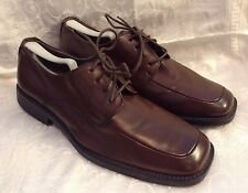 Mens Borelli Dress Shoe Brown EUC Size 11 Leather Lining & Sock Balance Man Made
