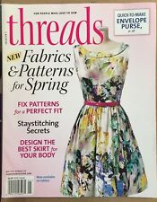 Threads Fabrics Patterns For Spring Perfect Fit How To May 2015 FREE SHIPPING!