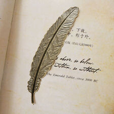 New European Vintage Retro Feather Bookmarks Book Magazine Accessories 2pcs
