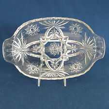 Anchor Hocking EAPC Early American Prescut / Star of David ~ Divided Relish Dish