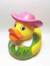COWBOY Rubber Duck Ducky Duckie Bath Toy - WESTERN COWGIRL Pink Hat New!