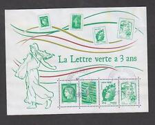 France - Bloc feuillet oblitéré - La lettre verte a 3 ans - TB