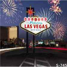 10x10FT Welcome Las Vegas Firework Night Custom Photo Studio Background Backdrop