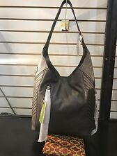 orYANY Italian Grain Leather Hobo with Quilting - Luciana Gray