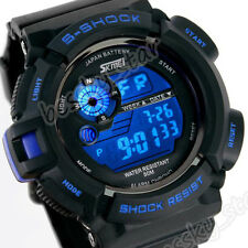 Mens Boys Water Resistant Multi Function Digital LED Quartz Watch Sport Watches