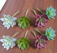 Set of 8 Artificial Plants Lotus Flowers Succulent Grass