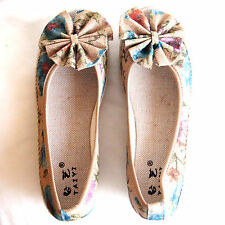 Shose Cotton With Wedge Heels and Front Opening for Casual Comfort Size 7