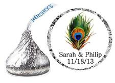 216 PEACOCK WEDDING FAVORS HERSHEY KISS KISSES LABELS
