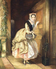 Art Oil painting Charles Robert Leslie - Hello! Is there anybody at home? Lady