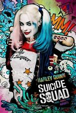 HARLEY QUINN SUICIDE SQUAD MOVIE ART IMAGE A4 Poster Gloss Print Laminated
