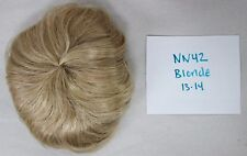 Partial Cap Doll Wig Size 13-14 BLONDE - Straight w/ Slight Curl - NN42