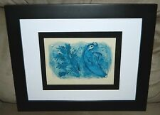"VTG Marc Chagall ""Verve No. 33-34"" Cover for the Bible King David Framed Litho"