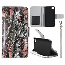 Brown Style Camouflage For Apple Iphone 4 , 4S Flip Wallet Leather Case Cover Gl