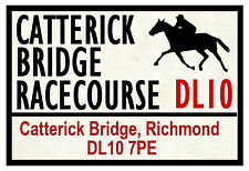 HORSE RACING ROAD SIGNS (CATTERICK) - FUN SOUVENIR NOVELTY FRIDGE MAGNET - GIFT