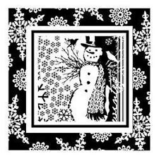 SNOWMAN snow flake's WINTER acrylic CLEAR unmounted RUBBER STAMP's Brand NEW