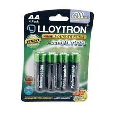 Lloytron B1025 4 Pack NIMH AccuUltra Rechargeable Battery AA High Power 2700mAh