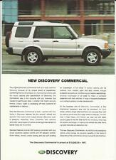 LAND ROVER DISCOVER Td5 COMMERCIAL SALES BROCHURE/SHEET 2001