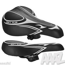Black Bicycle Bike Cycle MTB Saddle Mountain Road Sporty Soft Padded Seat