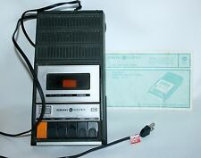 General Electric Cassette Player  Battery Portable Recorder Model 3-5103A Vtg.