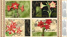 CHRISTMAS IN BLOOM~WILMINGTON FABRIC~PLACEMAT PANEL~FLORAL~MAKES 4 PLACE MATS