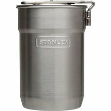 Stanley Camping Cooking Pot Set Stainless Steel Vented Lid Locking Handle 24 oz