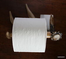 Deer Antler Toilet Tissue Paper Holder Home Bathroom Paper Roller Cabin Decor