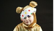 Children in Need-Golden Brown Teddy -PUDSEY BEAR HOOD ONLY-Kids Fancy Dress
