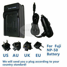 Battery Charger for Fuji NP-50 NP-50A Finepix F660EXR F600EXR F550EX F750EXR