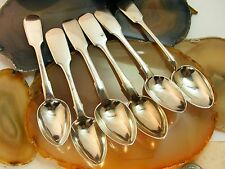 Antique Russian 84 Silver FIDDLE SPOONS 7 Diffrent Makers Tea Coffee