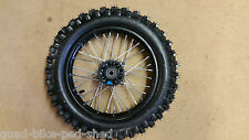 "12"" Pit Bike SDG steel FronT Wheel Tyre demon shineray thumpstar 80/100/12 BLACK"