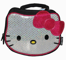 HELLO KITTY SEQUIN INSULATED TOTE LUNCH BAG SANRIO NEW