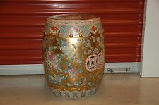 ANTIQUE CHINESE PORCELAIN GARDEN STOOL