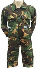 KIDS ARMY BOYS BOILERSUIT OVERALLS OVERALL BOILER SUIT CAMOUFLAGE CAMO QUALITY