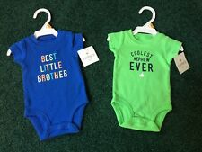 Baby Boy 2-Carters Onesies Size NB NWT