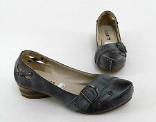 Pumps Colette Ballerinas Blockabsatz Kunstleder braun antik Finish Gr. 36