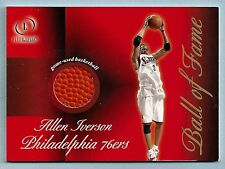 ALLEN IVERSON 2000/01 FLEER LEGACY BALL OF FAME GAME USED BASKETBALL
