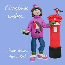 Across The Miles Christmas Greeting Card One Lump or Two Holy Mackerel Cards