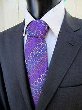 Seaward & Stearn Seven Fold Woven Colorful Purple Silk Tie