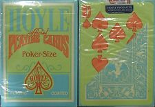Hoyle Green Clamshell Playing Cards with Orange Pips -24 decks