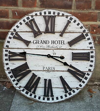 Wooden French Station Clock (60cm) - Grand Hotel, Paris
