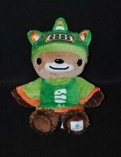 Peluche Doudou Mascotte Sumi Jeux Olympique Vancouver 2010 Vert Brun 18 Cm NEUF
