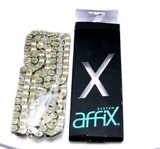 """Affix BMX Half Link Chain 3/32"""" x 116-links SOLID Pin, Single Speed Fixie GOLD"""